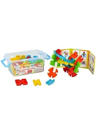 Efe Efe 420 Renkli 40 Parça Plastik Saklama Kutulu Puzzle Renkli